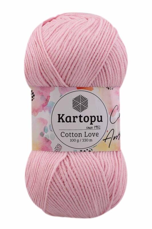KARTOPU - Kartopu Cotton Love El Örgü İpi 100 gr | Açık Pembe K768