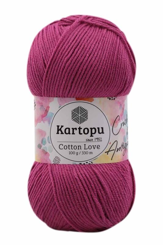 KARTOPU - Kartopu Cotton Love El Örgü İpi 100 gr | Fuşya K730