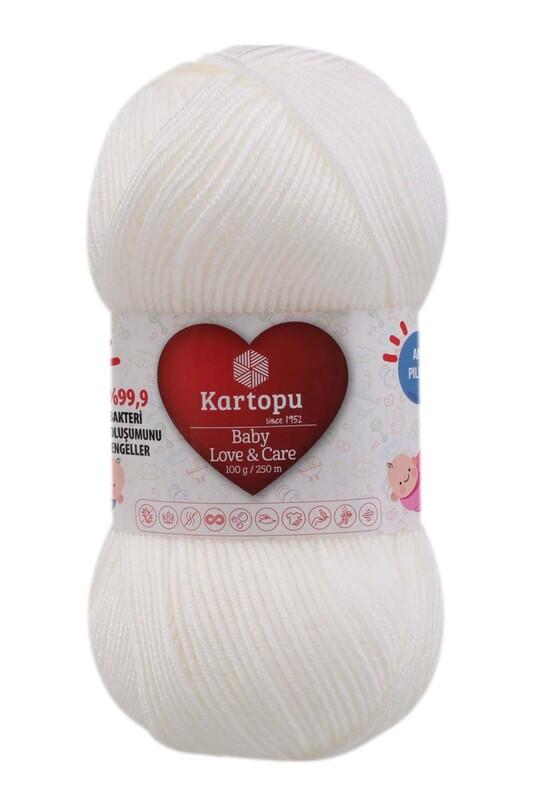 KARTOPU - Kartopu Baby Love & Care El Örgü İpi 100 gr. | Beyaz K010