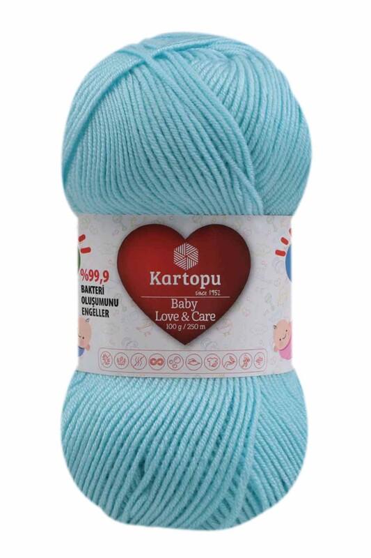 KARTOPU - Kartopu Baby Love & Care El Örgü İpi 100 gr.   Cam Göbeği K502