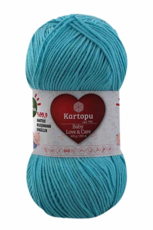 KARTOPU - Kartopu Baby Love & Care El Örgü İpi 100 gr. | Turkuaz K576