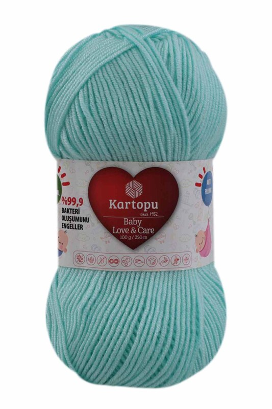 KARTOPU - Kartopu Baby Love & Care El Örgü İpi 100 gr. | Bebe Yeşil K578