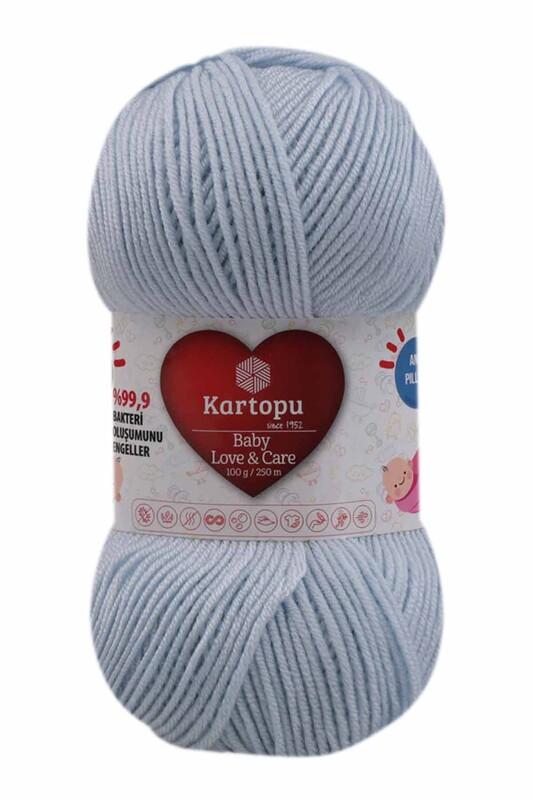 KARTOPU - Kartopu Baby Love & Care El Örgü İpi 100 gr. | Açık Mavi K580