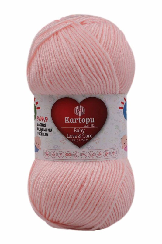 KARTOPU - Kartopu Baby Love & Care El Örgü İpi 100 gr. | Bebe Pembe K699