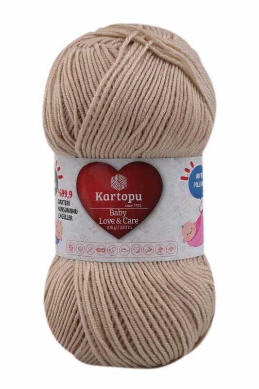 KARTOPU - Kartopu Baby Love & Care El Örgü İpi 100 gr. | Taş K861