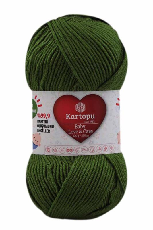 KARTOPU - Kartopu Baby Love & Care El Örgü İpi 100 gr. | Yeşil K1391