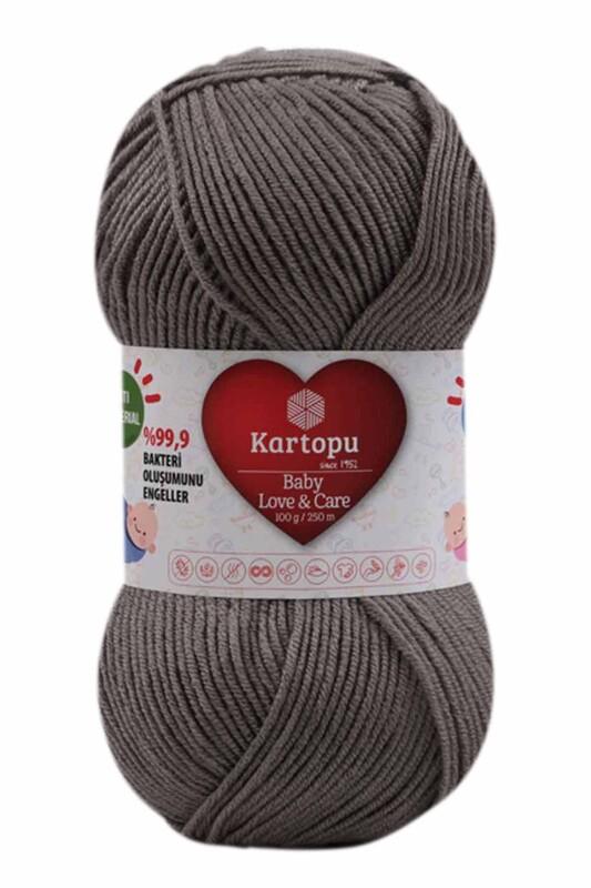 KARTOPU - Kartopu Baby Love & Care El Örgü İpi 100 gr. | Koyu Gri K1921