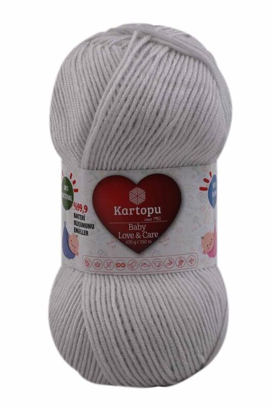 KARTOPU - Kartopu Baby Love & Care El Örgü İpi 100 gr. | Açık Gri K992