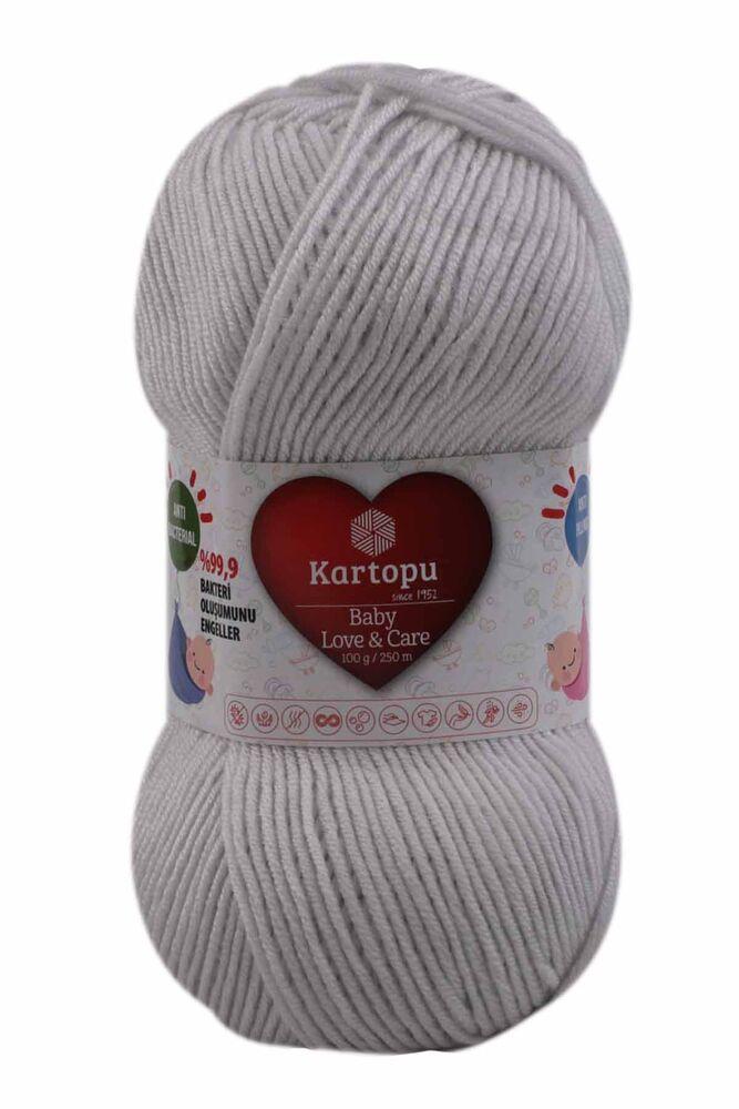 Kartopu Baby Love & Care El Örgü İpi 100 gr.   Açık Gri K992