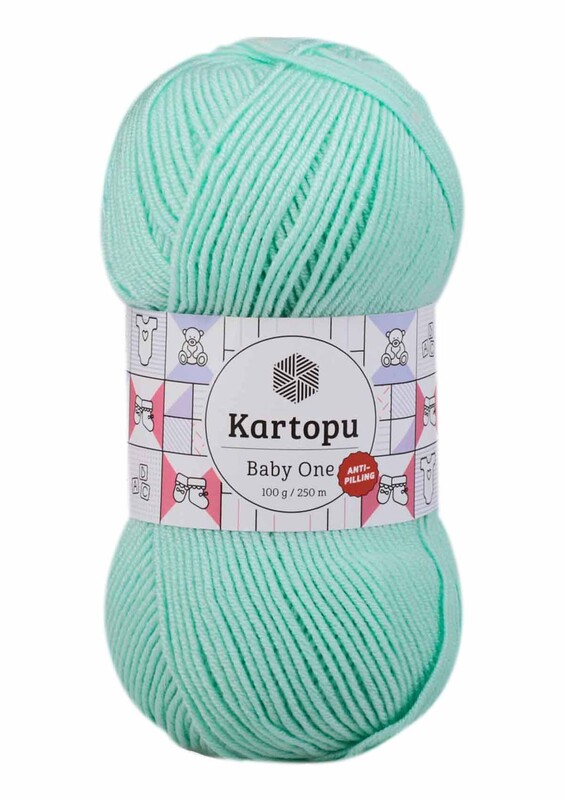 KARTOPU - Kartopu Baby One El Örgü İpi 100 gr | Açık Yeşil K507