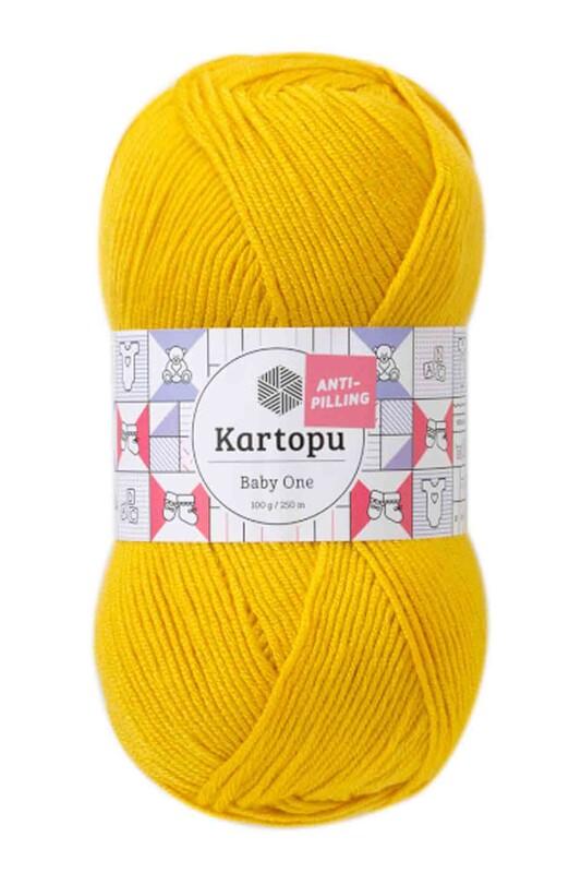 KARTOPU - Kartopu Baby One El Örgü İpi 100 gr | Hardal Sarısı K1321