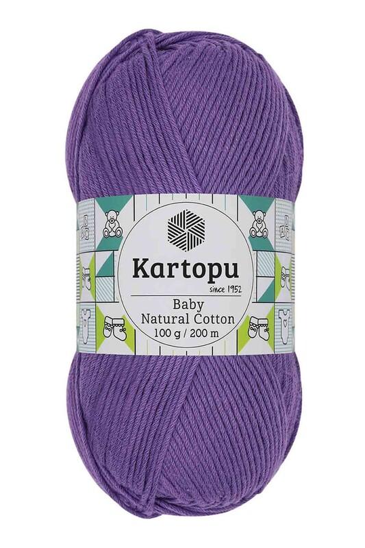 KARTOPU - Kartopu Baby Natural Cotton El Örgü İpi 100 gr. Mor K719