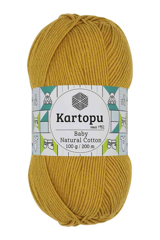 KARTOPU - Kartopu Baby Natural Cotton El Örgü İpi 100 gr. Hardal K310