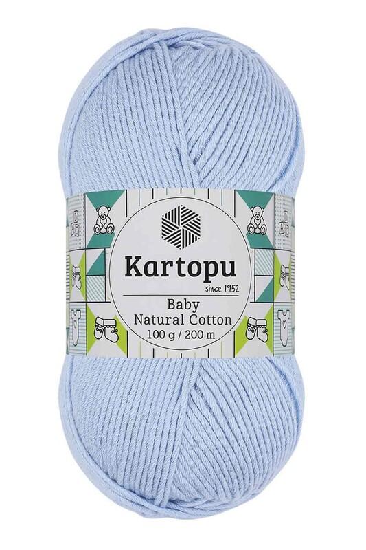 KARTOPU - Kartopu Baby Natural Cotton El Örgü İpi 100 gr. Bebe Mavi K544