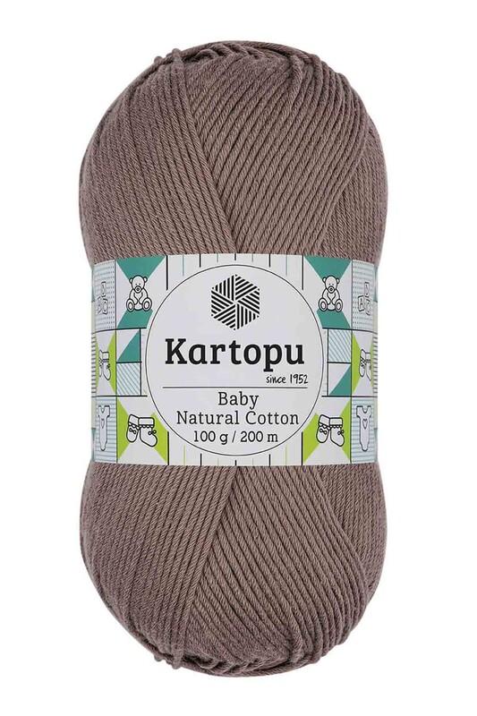 KARTOPU - Kartopu Baby Natural Cotton El Örgü İpi 100 gr. Pembemsi Kahve K827