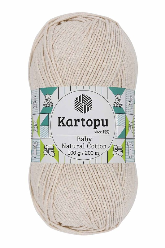 KARTOPU - Kartopu Baby Natural Cotton El Örgü İpi 100 gr. Krem K793