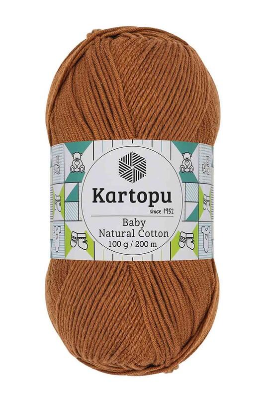 KARTOPU - Kartopu Baby Natural Cotton El Örgü İpi 100 gr. Kiremit Kahve K1834