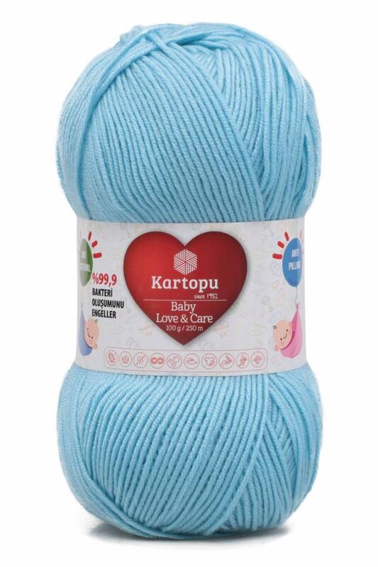 KARTOPU - Kartopu Baby Love & Care El Örgü İpi 100 gr. | Ufuk Mavisi K566