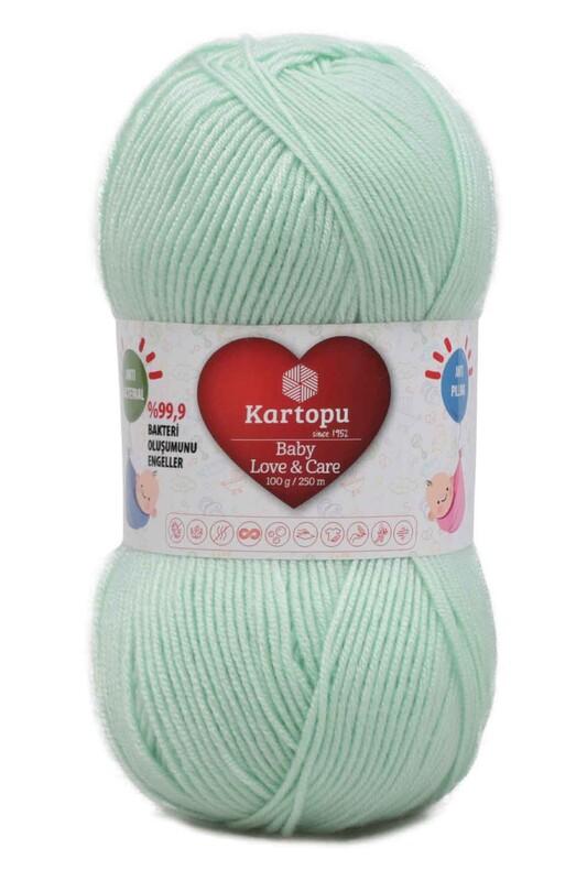 KARTOPU - Kartopu Baby Love & Care El Örgü İpi 100 gr. | Bebek Yeşili K485