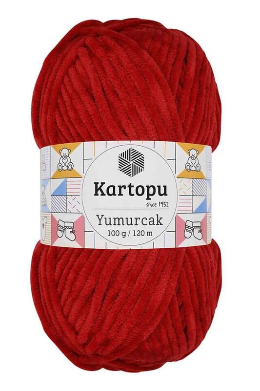 KARTOPU - Kartopu Yumurcak El Örgü İpi 100 Gr Kırmızı K126