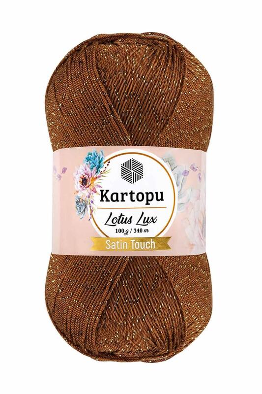 KARTOPU - Kartopu Lotus Lux El Örgü İpi Koyu Hardal K840