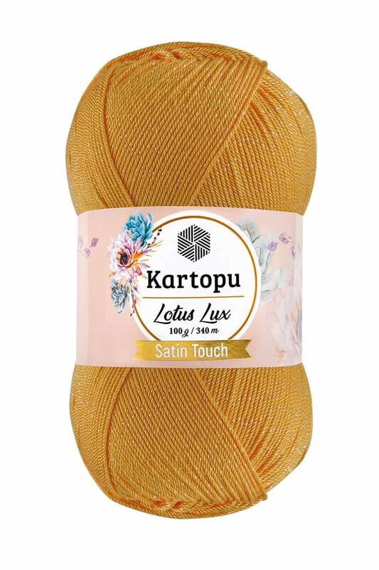KARTOPU - Kartopu Lotus Lux El Örgü İpi Koyu Sarı K318