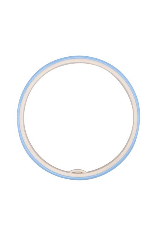 Nurge - Nurge Geçmeli Silikon Kasnak 20 cm Mavi