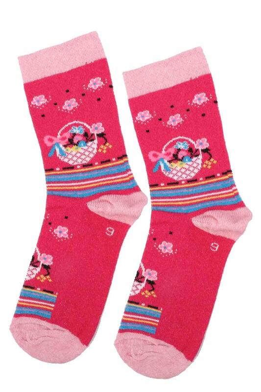 ARC - Arc Kids Kız Çocuk Çorap   Fuşya