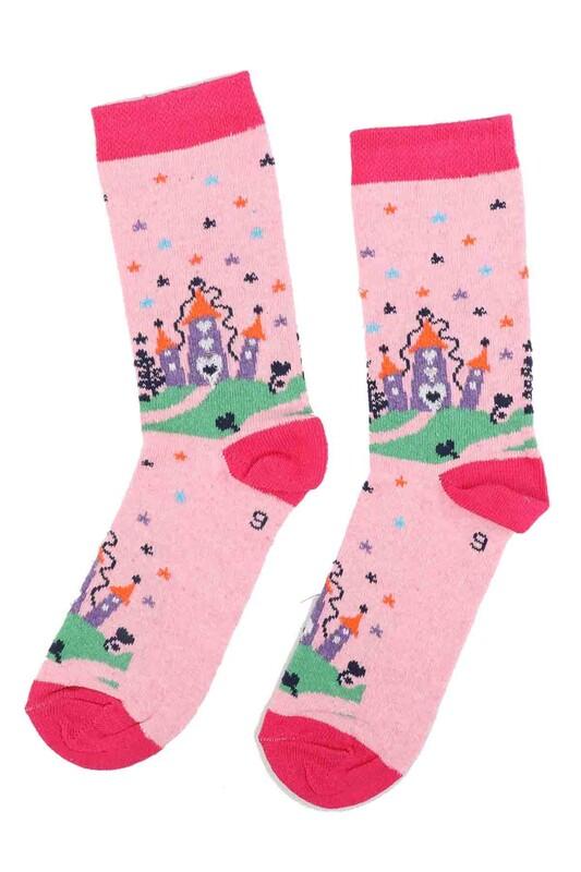 ARC - Arc Kids Kız Çocuk Çorap 002   Pembe