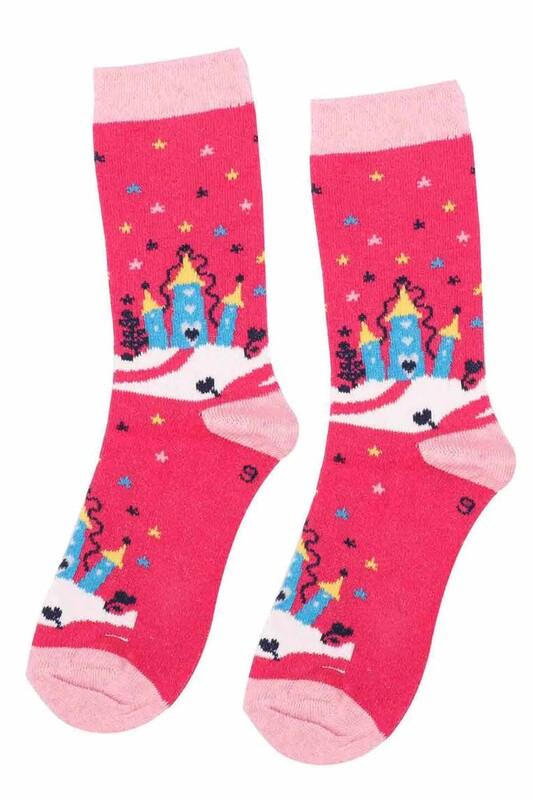 ARC - Arc Kids Kız Çocuk Çorap 002   Fuşya