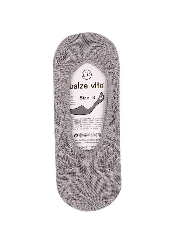 CALZE VİTA - Calze Vita Babet Çorap 004   Gri