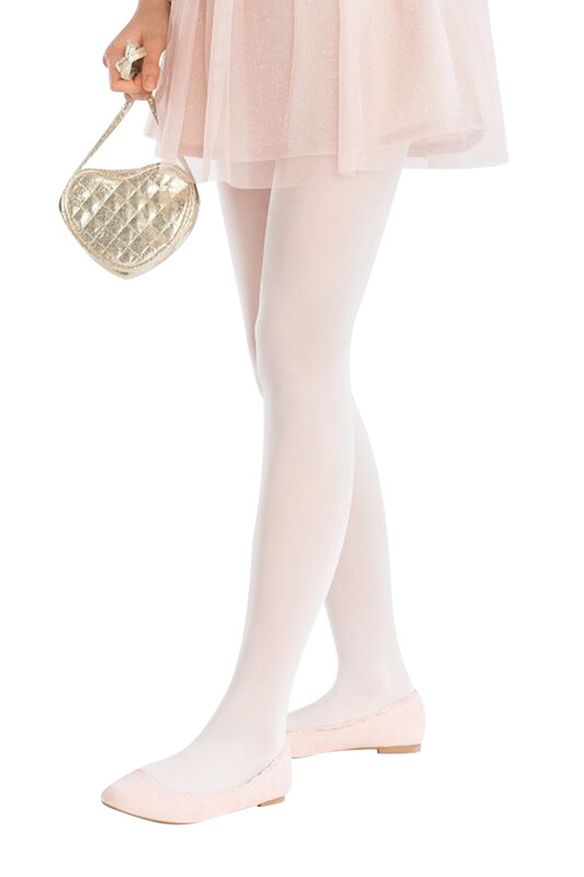 DORE - Dore Mikro 50 Kız Çocuk Külotlu Çorap   Ekru