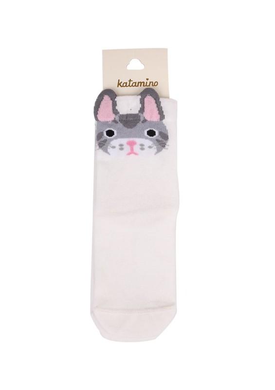 KATAMİNO - Katamino Soket Çorap 5402   Krem