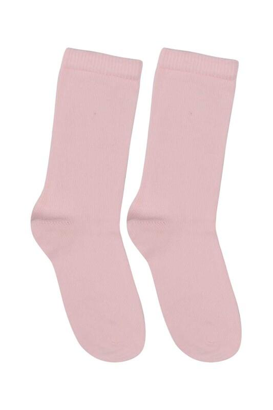 SİMİSSO - Desenli Çocuk Çorabı 928 | Pembe
