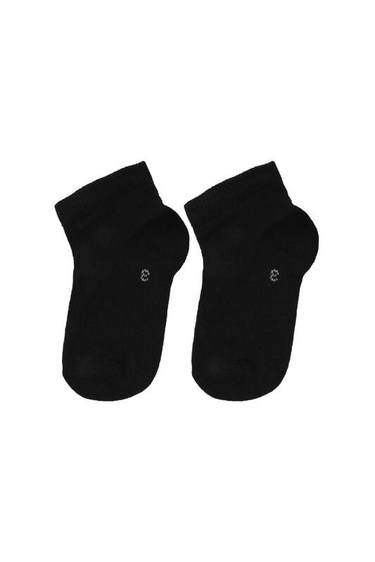 SİMİSSO - Desenli Çocuk Çorabı 936   Siyah