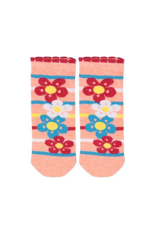 SİMİSSO - Desenli Çocuk Çorabı 940   Pudra