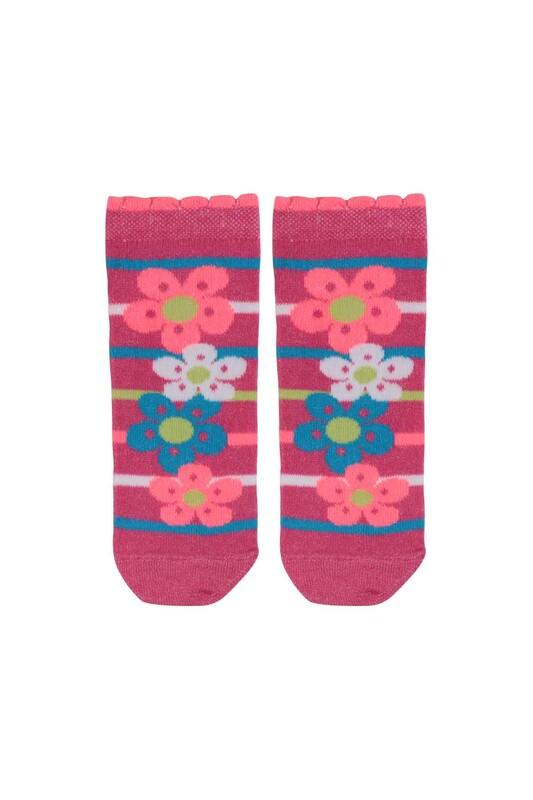SİMİSSO - Desenli Çocuk Çorabı 940 | Pembe