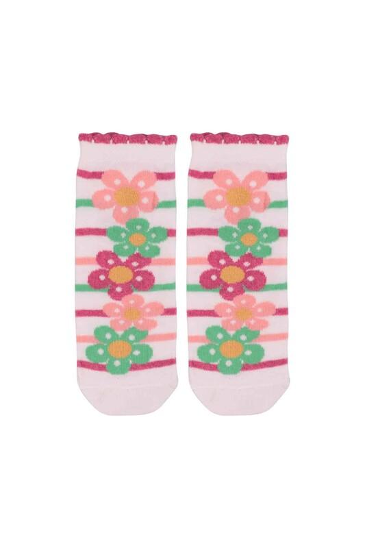 SİMİSSO - Desenli Çocuk Çorabı 940   Beyaz