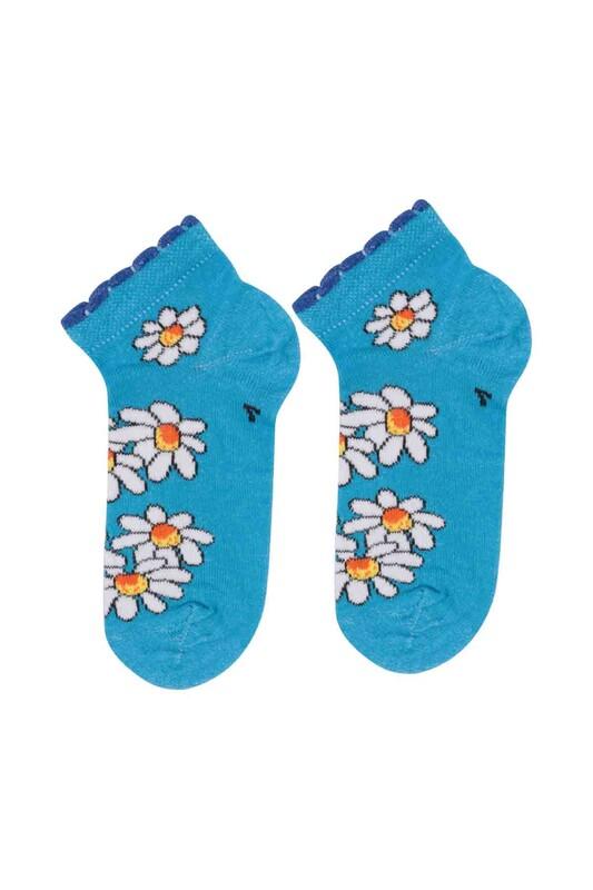 SİMİSSO - Desenli Çocuk Çorabı 941 | Mavi