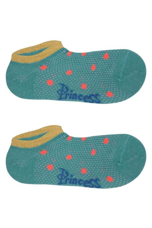 SİMİSSO - Simli Kız Çocuk Soket Çorap 305   Yeşil