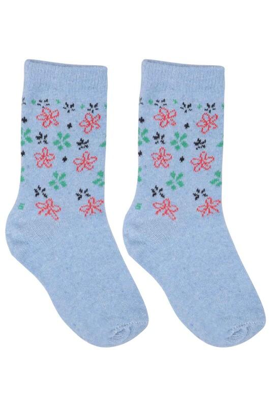 ÜÇ-EL - Kız Çocuk Çorap 50   Mavi
