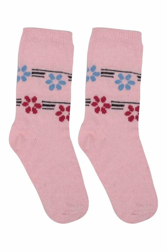 ÜÇ-EL - Kız Çocuk Çorap 51   Pembe