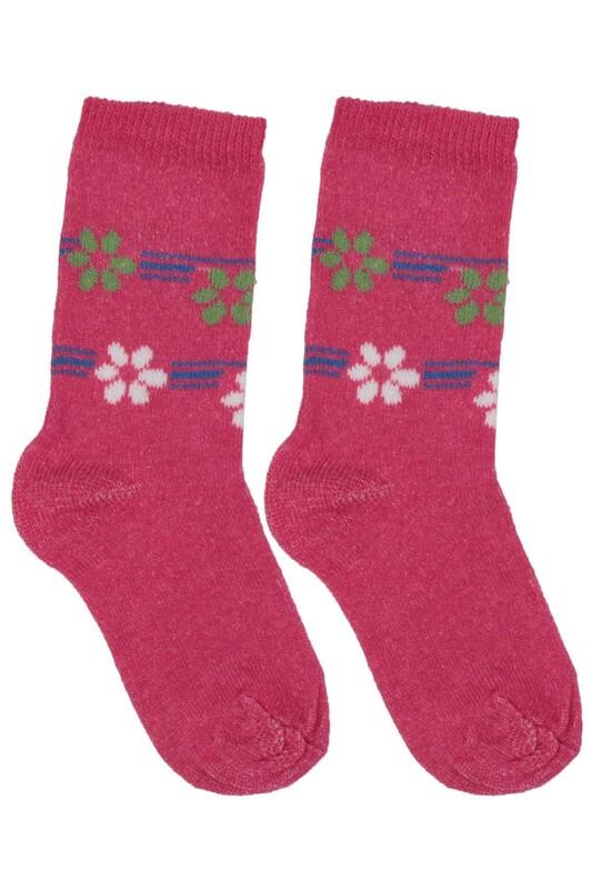 ÜÇ-EL - Kız Çocuk Çorap 51 | Fuşya