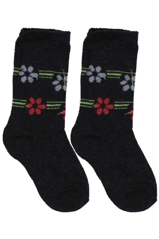 ÜÇ-EL - Kız Çocuk Çorap 51 | Antrasit