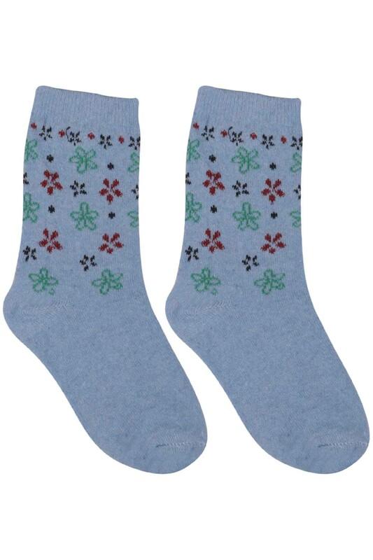ÜÇ-EL - Kız Çocuk Çorap 52 | Mavi