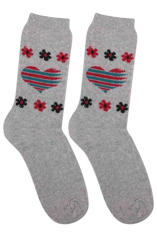 ÜÇ-EL - Kız Çocuk Çorap 53 | Gri