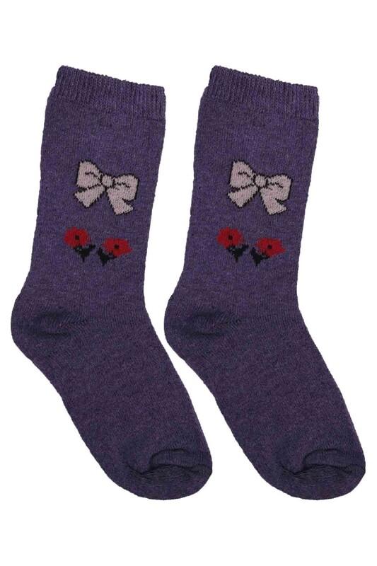 ÜÇ-EL - Kız Çocuk Çorap 54 | Mor