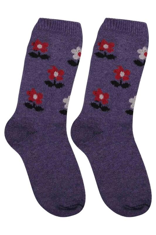 ÜÇ-EL - Kız Çocuk Çorap 55 | Mor
