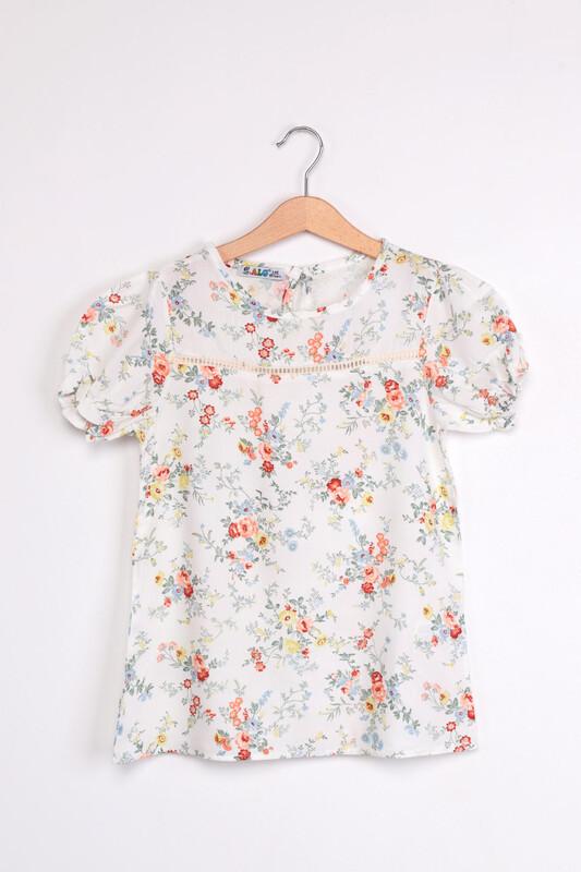 ALG - ALG Çiçek Baskılı Kız Çocuk Elbise | Turuncu