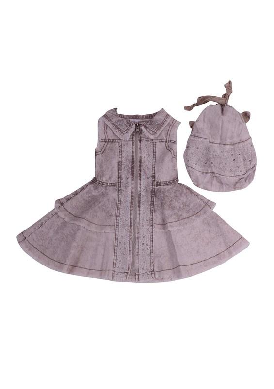 SİMİSSO - Simisso Çantalı Kot Elbise 416 | Bej
